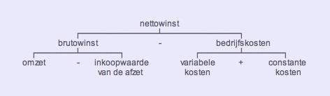 diagram van de interne nettowinst